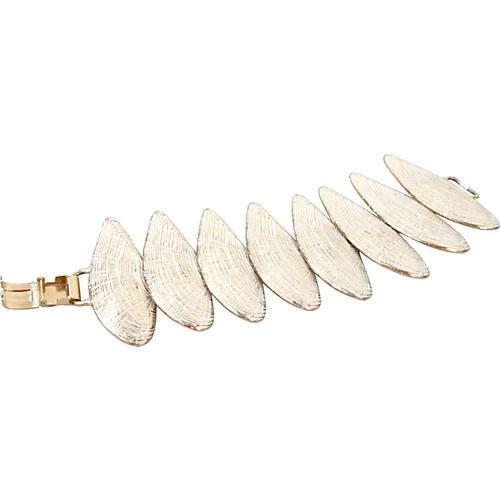 White & Gold Seashell Bracelet
