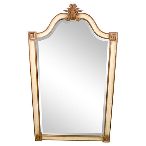 Italian Hand-Carved Wooden Mirror