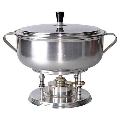 50s Tommi Parzinger Silver Serving Bowl