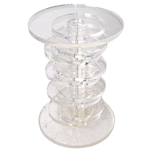 Lucite Discs Table Base
