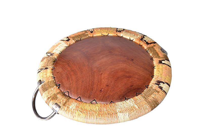 native american tray weaving amp wood   galleria d epoca