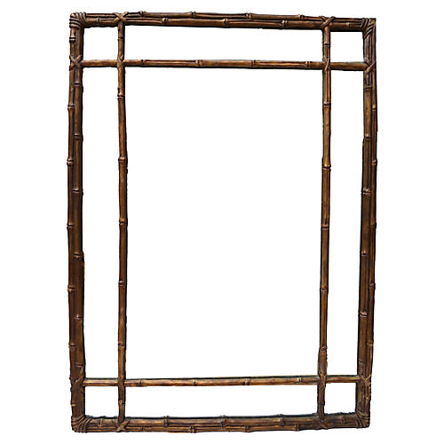 Wood Composite Faux Bamboo Mirror