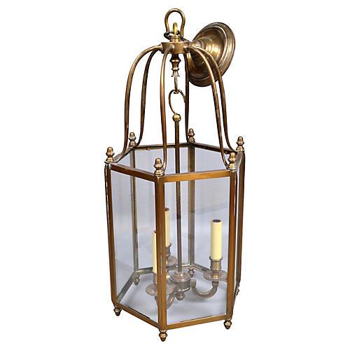 Brass & Glass 3-Light Lantern