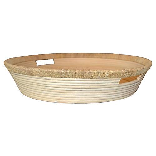 Pencil Reed Bamboo & Rattan Basket