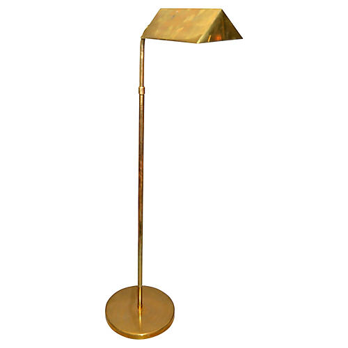 American Brass Floor Lamp