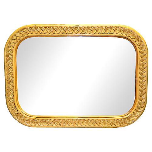 Wicker & Rattan Wall Mirror