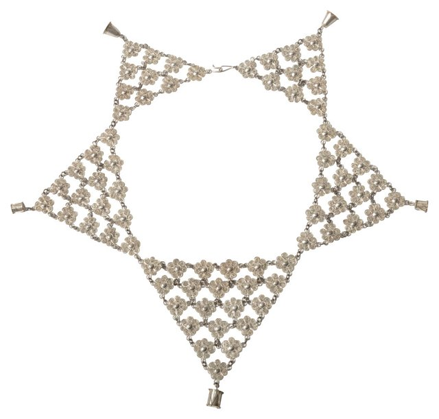 Sterling Triangle Collar Necklace