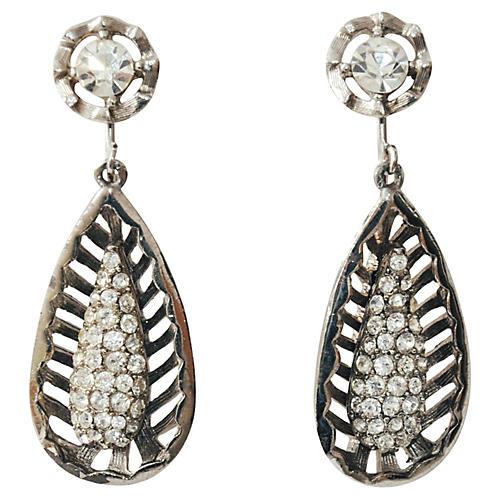 Teardrop Cage Dangle Earrings