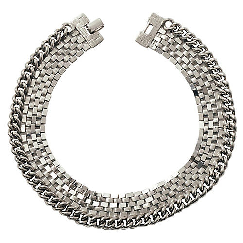 Wide Chain Choker Necklace