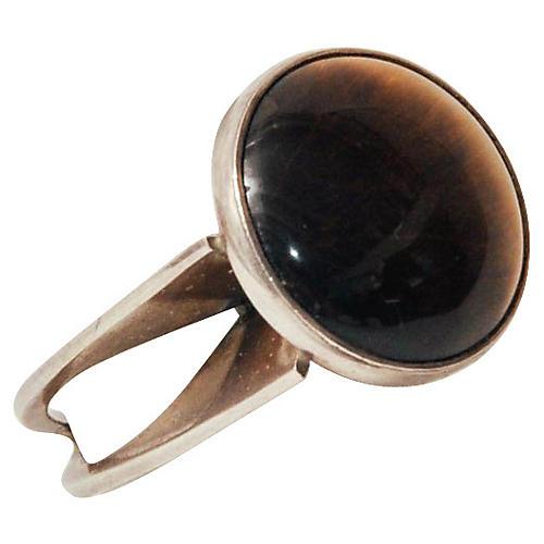 Tiger's Eye & Sterling Silver Ring