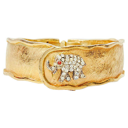 1960s Elephant Hidden Watch Cuff