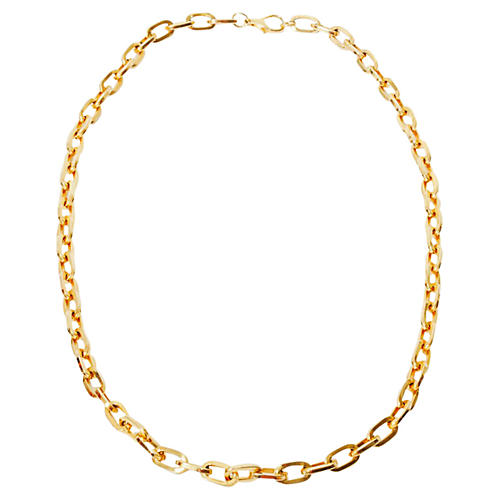 Goldtone Chain Link Necklace
