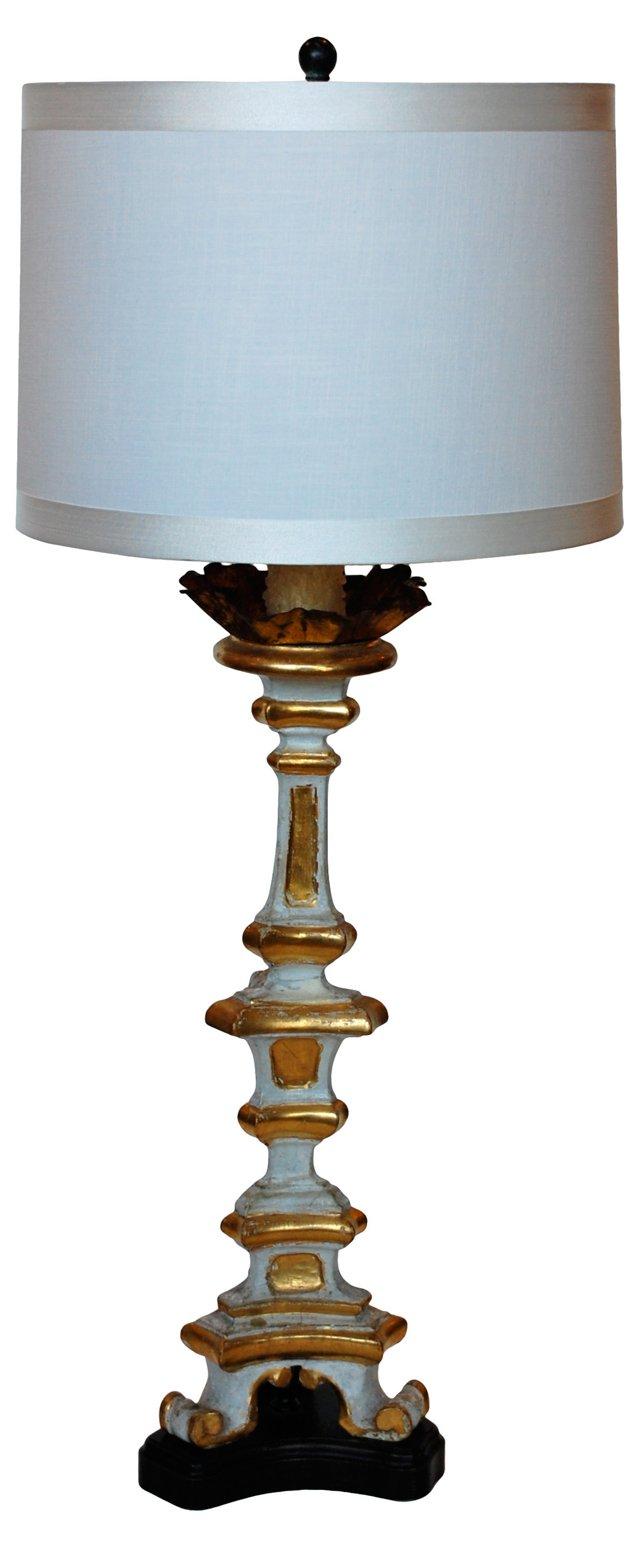 Antique Altar Stick Lamp