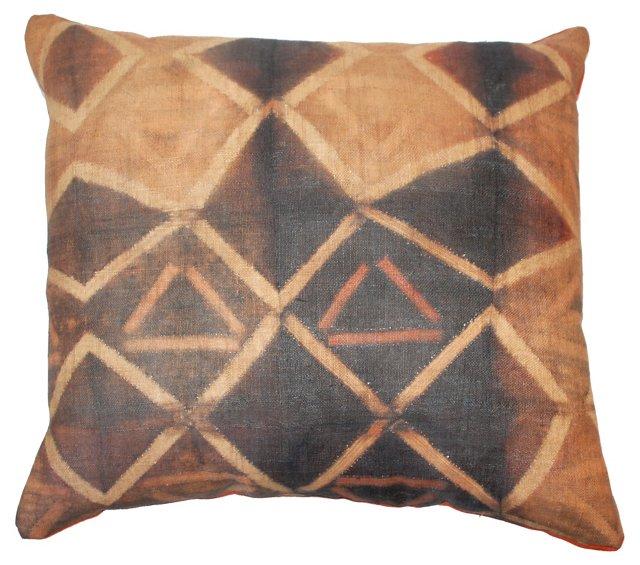 Kuba Tie-Dye Raffia Cloth Pillow