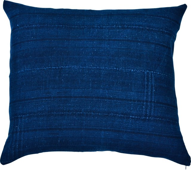 African Indigo Textile Pillow
