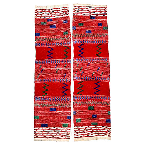 Guatemalan Embroidery Panels, Pair