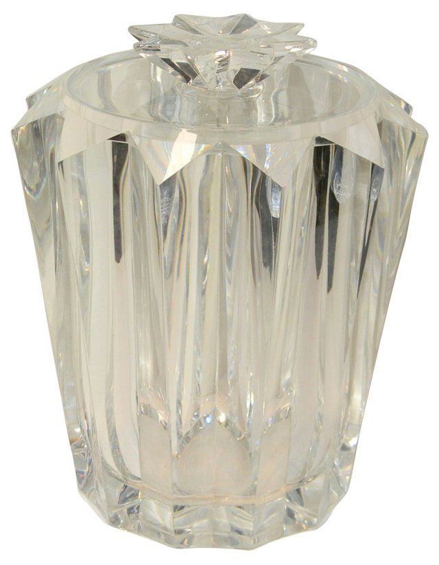 Faceted Lucite Ice Bucket