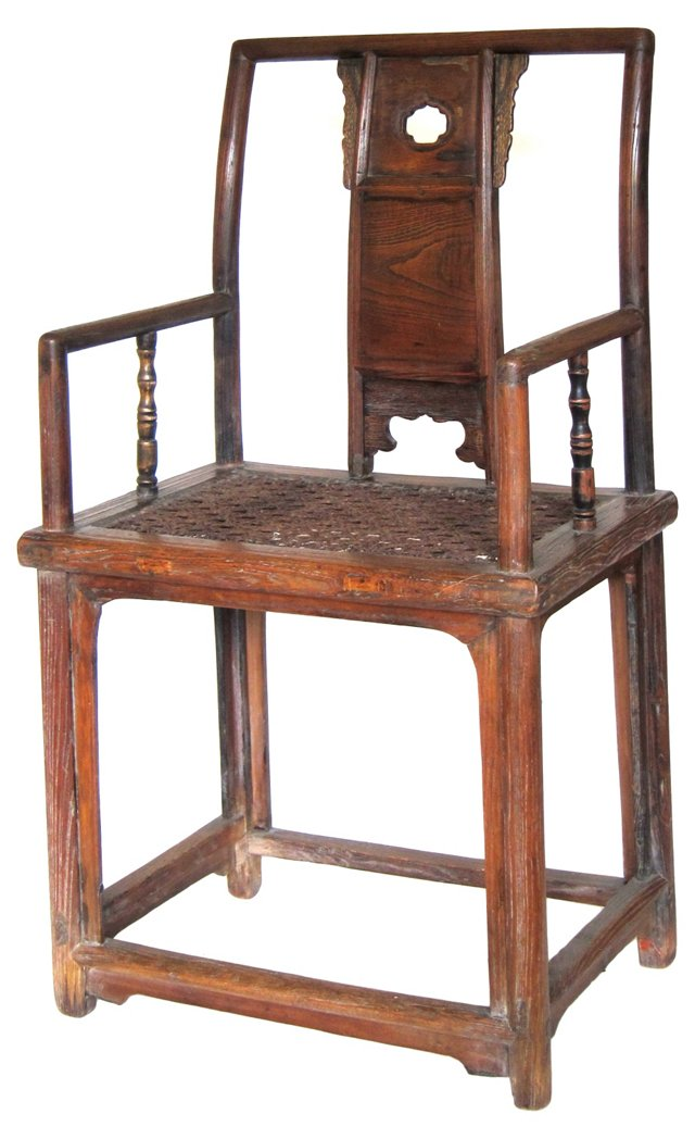18th-C.  Chinese Official Armchair