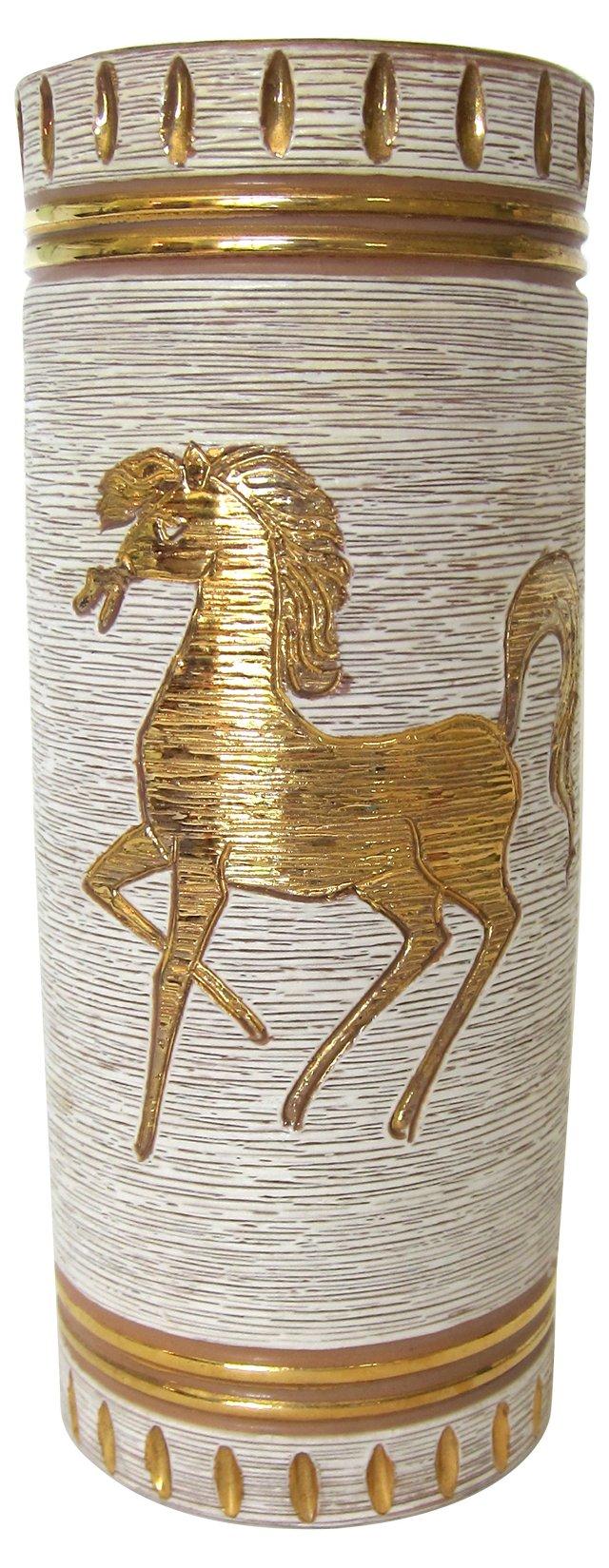 Italian Horse Vase