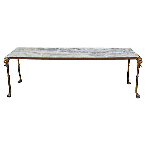 Gold Lion Marble Coffee Table