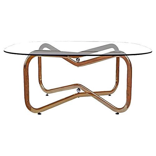 Atomic Brass & Chrome Coffee Table