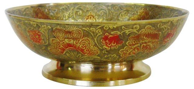 Enameled Brass Bowl