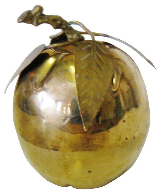 Detailed Brass Apple Box