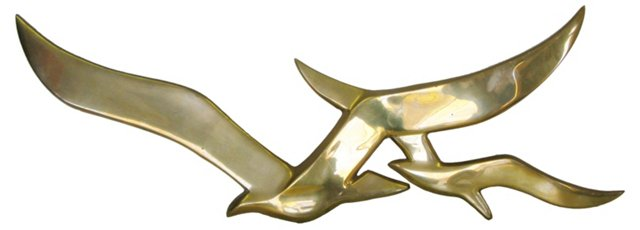 Brass Seagull Wall Hanging