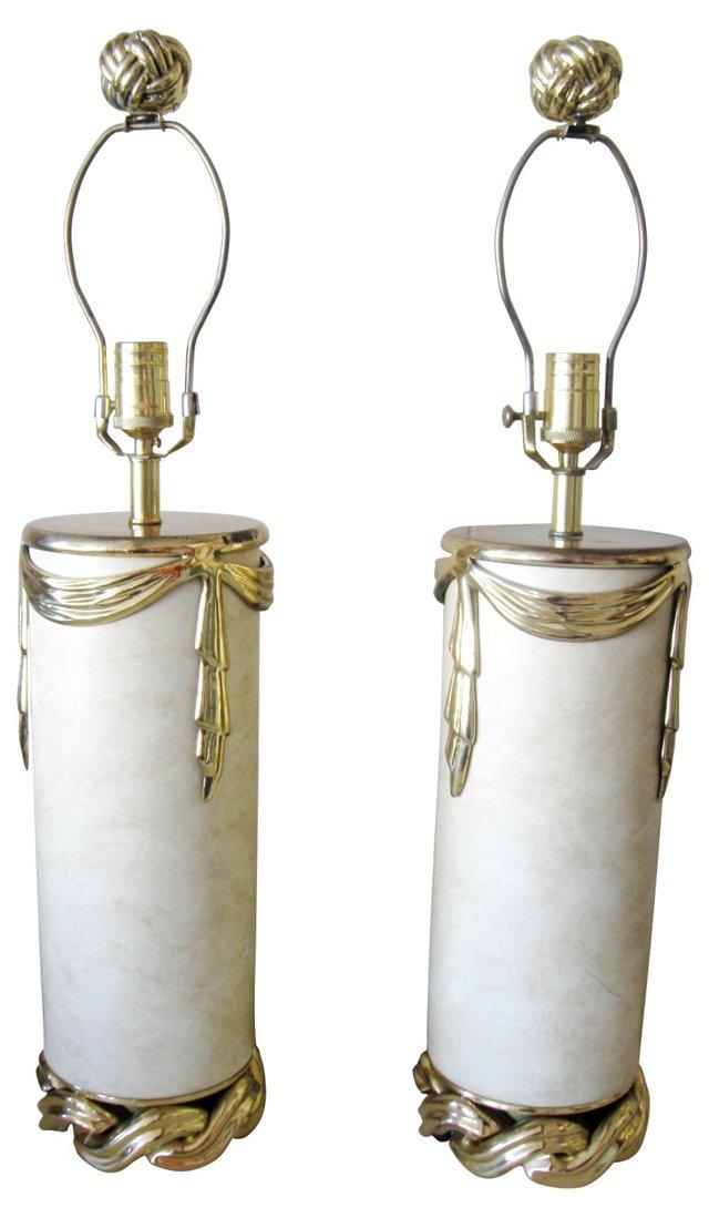 Swag & Drape Lamps, Pair