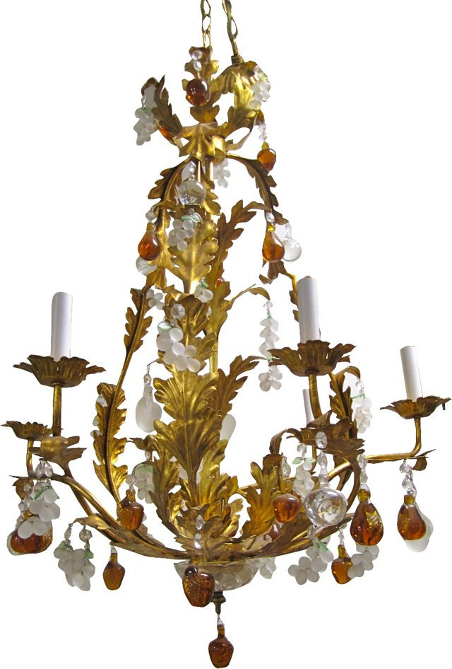Murano Grapes & Pears Chandelier