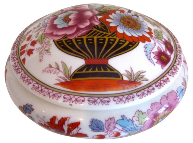 Limoges Round Floral Box