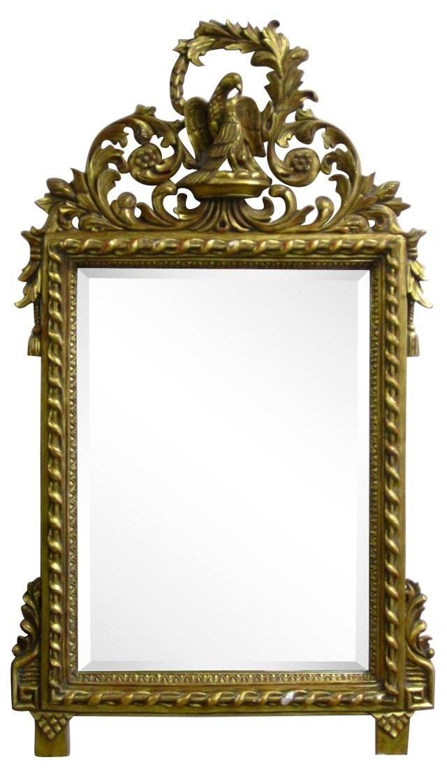 Ornate Gold Gilt Mirror w/ Birds