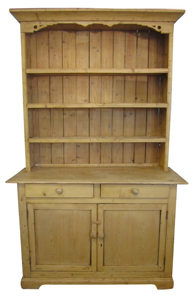 19th-C. Irish  Pine Hutch