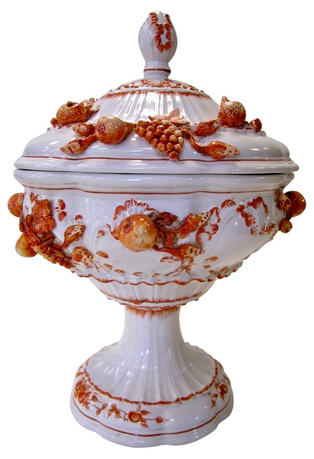 Italian Covered Pedestal Dish