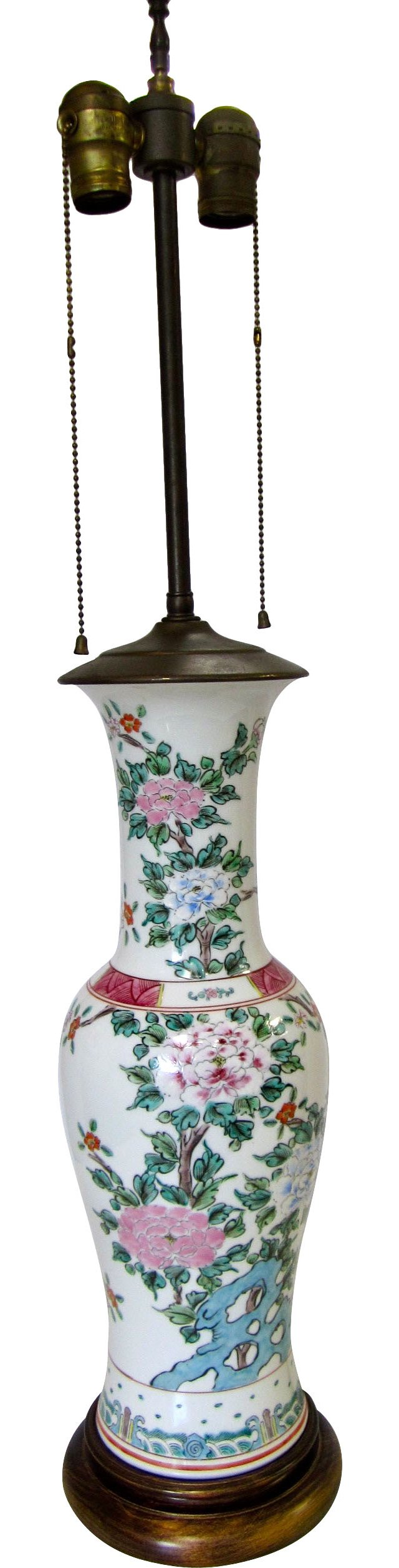 Asian Floral Lamp