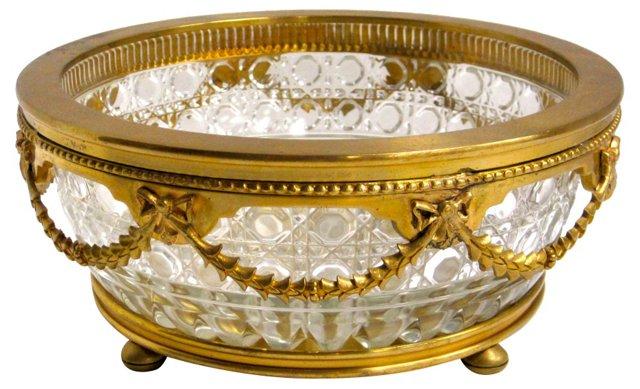 Crystal & Brass Bowl