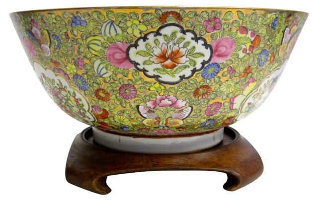 Japanese Rose Medallion Bowl