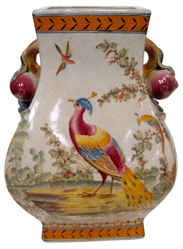 Chinese Peacock Urn