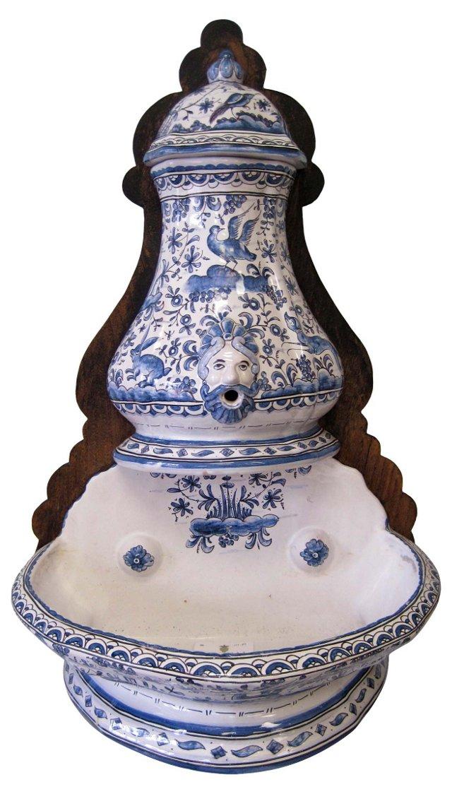 Blue & White Lavabo
