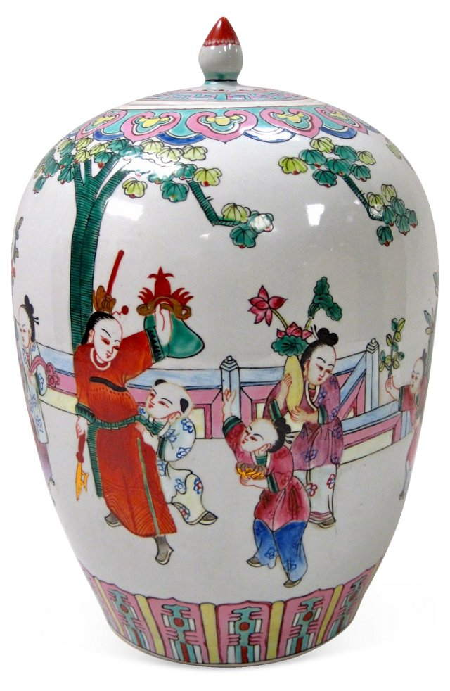 Japanese Hand-Painted Ginger Jar
