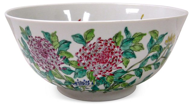 Japanese Chrysanthemum Punch Bowl