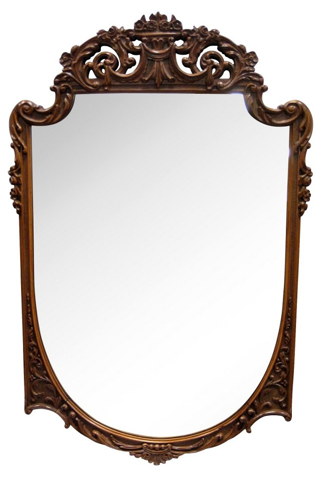 Rococo-Style Carved Mirror