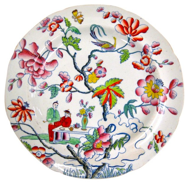 Chinoiserie Hand-Painted Plate