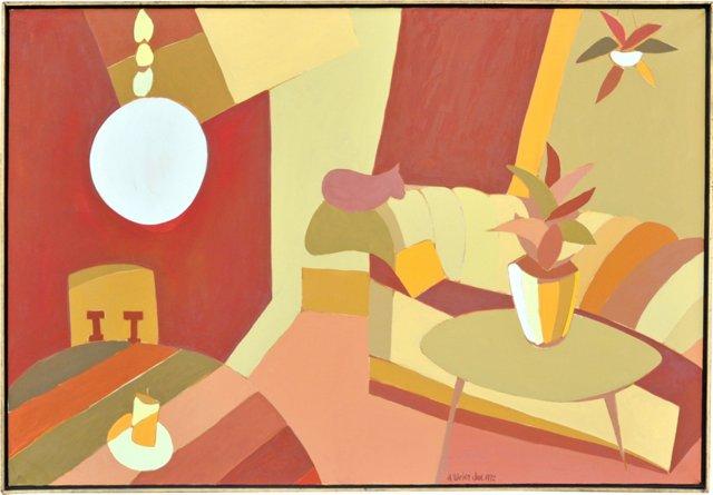 Modern Interior w/ Cat