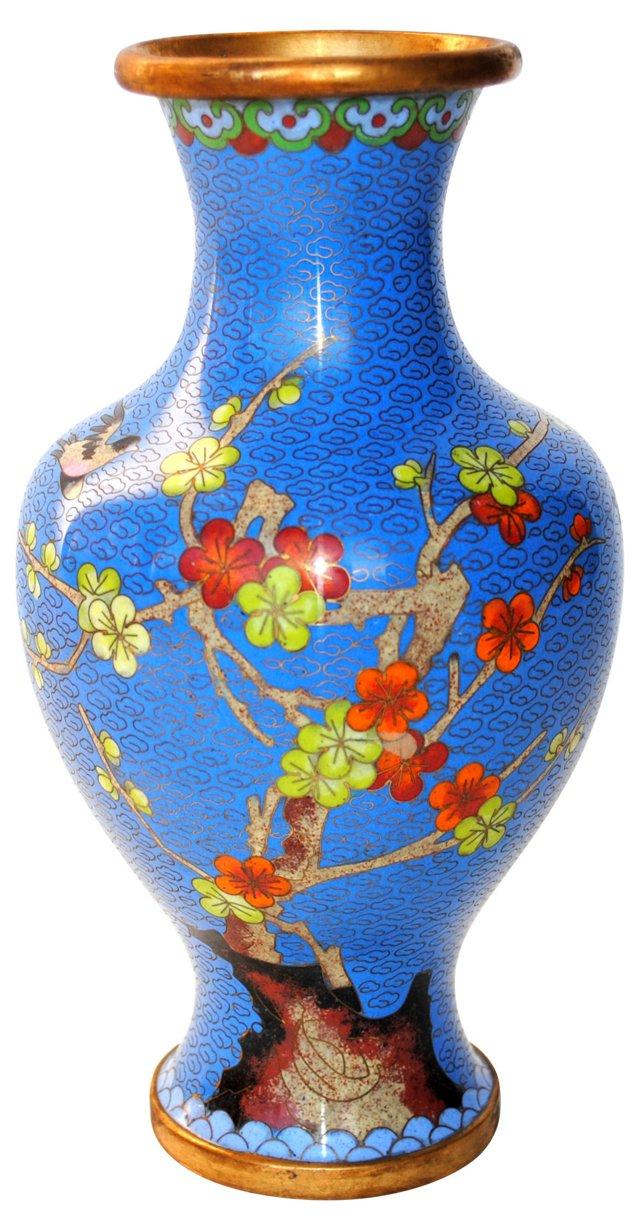 Jingfa Cloisonné Brass Vase