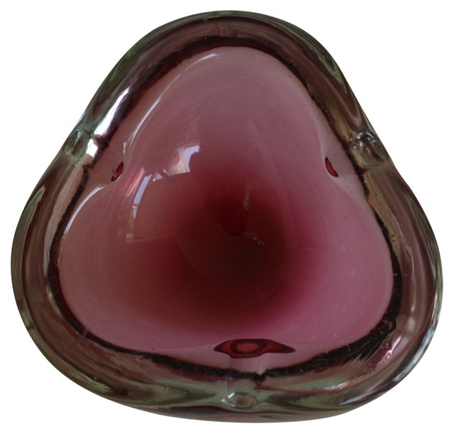 Italian Art Glass Ashtray