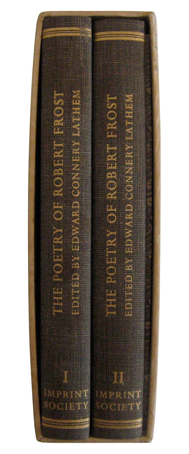 The Poetry of Robert Frost, Ltd Ed, Pair