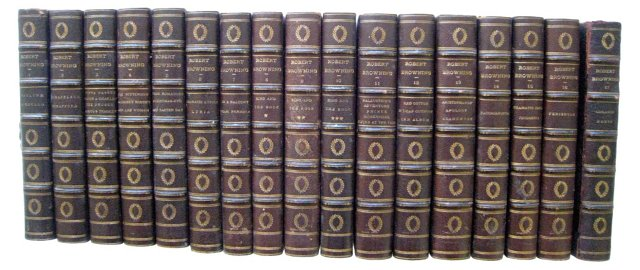 Robert Browning Leather Books, S/17