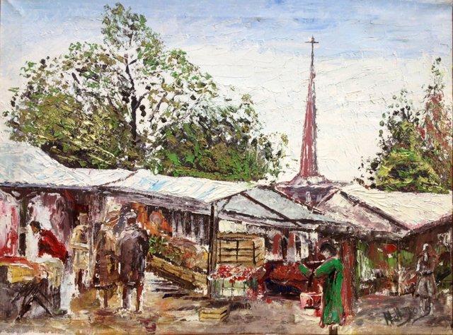 Paris Market by H. de Jong