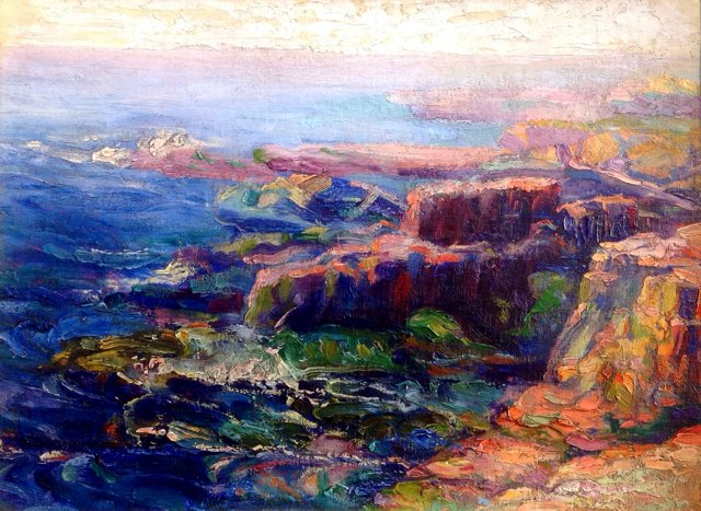 California Impressionist Seascape